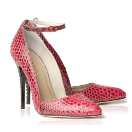 Betty Lipstick Red Python Pair